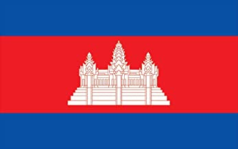 Allied Flag Outdoor Nylon Cambodia United Nation Flag, 4 by 6-Feet
