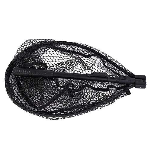 Tbest Kescher Angeln Fliegenfischen Netz, Fischernetz Tragbare Aluminiumlegierung Schnellklapp Fliegenfischen Hand Dip Net Fanggeräte zum Fangen von Bass Carp Catfish