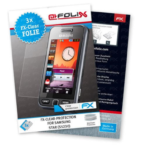 Displayschutz@FoliX atFoliX - Pellicola Protettiva per Samsung Star S5230