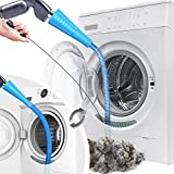 Dryer Vent Cleaner Kit Vacuum Hose Attachment, Washer and Dryer Lint Remover, Dryer Cleaning Tools 2 Hoses with Adapter