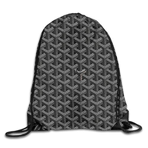 BlueBling Black Goyards Drawstring Bags Gym Sports Dance Backpack Portable Daypack