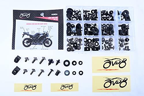Kit de tornillos AVDB para montaje carenado completo específico CBR 600 RR 2007-2012 (gris/Titane)