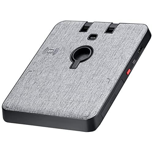pitaka 6 in 1 kabelloses Ladestation [Air Omni Lite] Wireless Charger für iPhone, iwatch, Airpods, ipad und andere Qi-fähige Telefone, minimalistisches induktives Qi Ladestation mit Stoffoberfläche