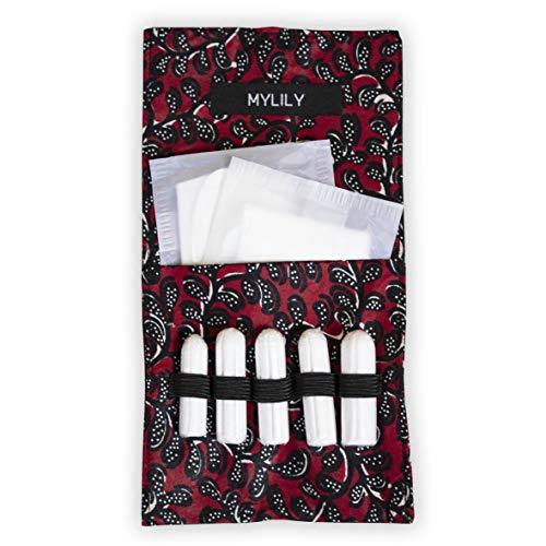 MYLILY® Period Bag | Tasche für Tampons, Binden und Slipeinlagen | Handgenähte Einzelstücke | Unterstützung eines sozialen Projektes