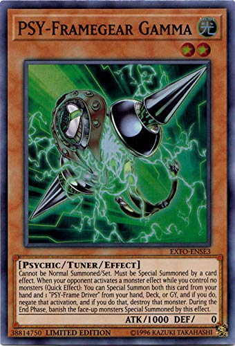 Yugioh Psy-Framegear Gamma - EXFO-ENSE3 - Super Rare - Limited Edition Extreme Force Special Edition