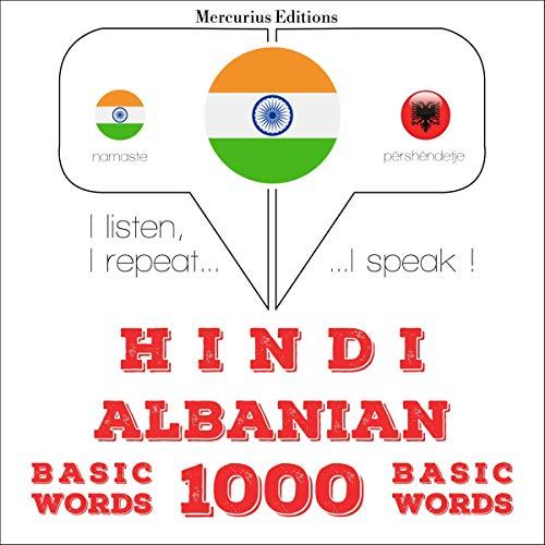 Hindi - Albanian. 1000 basic words audiobook cover art