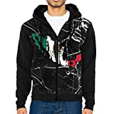 If Nothing Mexico Flag Map Herren Custom Full-Zip Hoodie Sweatshirts Jacken Tasche, XX-Large