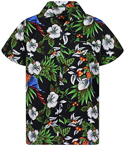 V.H.O. Funky Camisa Hawaiana, CherryParrot, Black, M