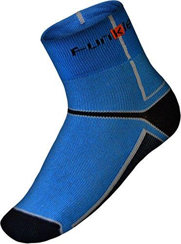 Funkier Chaussettes de Cyclisme d'hiver Confortable, Chaud et Isolant Thermolite, Mixte, Winter Cycling Socks, Noir/Bleu, Size 39-42