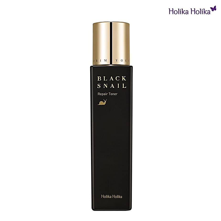抑圧する辛なかなりのHolikaHolika(ホリカホリカ) Prime Youth Black Snail Repair Toner プライムユースブラックスネイルトナー カタツムリ 化粧水 [並行輸入品]