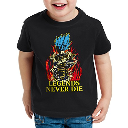 Legends Never Die - Vegeta Blue God Mode T-Shirt pour Enfants, Talla:104