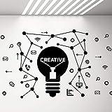Decalcomania di Grandi Dimensioni Idea Creativa Lavoratori Adesivi murali in Vinile Decorazione murale per Ufficio Scuola Aula adolescenziale Decorazioni Camera da Letto 69x42 cm