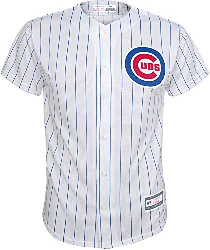 Outerstuff MLB 4-7 Kids Blank Cool Base Home Color Team Jersey (4, Chicago Cubs Home White)