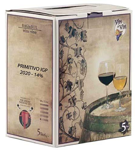 VINO PRIMITIVO IGP IGT bag in Box 5 L rosso CAMPANIA 14{cbd62f3335e97258b167bbfa376f167dcba46e00440af847890eb81be2e5a5fe} Sfuso da Azienda Agricola
