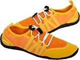Cressi Elba Pool Shoes Zapatillas Chanclas Unisex Adulto, Naranja/Amarillo, 36