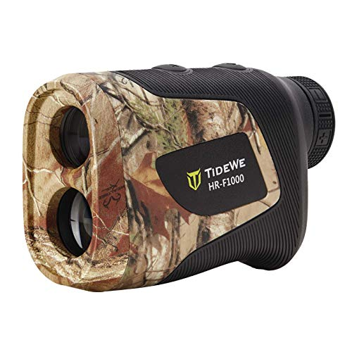 TIDEWE Hunting Rangefinder with Rechargeable Battery, 1000Y Realtree Xltra Camo Laser Range Finder 6X Magnification, Distance/Angle/Speed/Scan Multi Functional Waterproof Rangefinder with Case