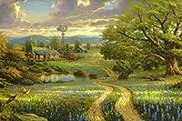 ( country living)トマスキンケード 西洋絵画 キャンバスアートプリント 写真ポスター アート油絵 風景油絵 印刷されたポスター 75x50cm