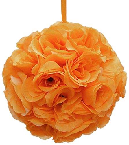 Firefly Imports Homeford Flower Kissing Balls Pomander Pom Pom Wedding Centerpiece, Orange