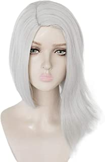 Fashion Synthetic Wig, White Cosplay Wig, Free Hair Cap + Game OW Ashe Synthetic Moderate Straight Hair Party Wig for Anim...
