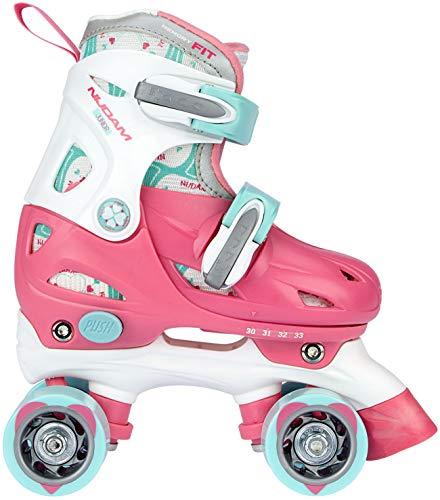 Speelgoed 52QNRWB27-30 rolschaats roze, 27-30 rolschaatsen junior verstelbaar, roze/wit/lichtblauw