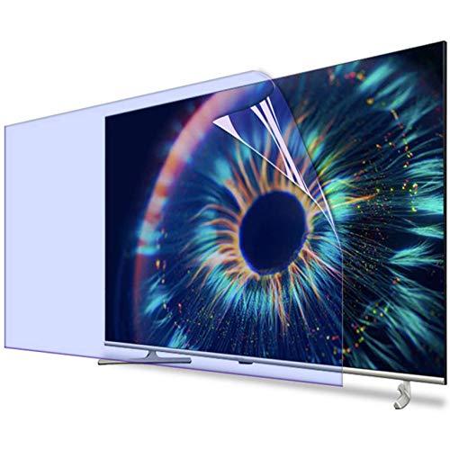 32-65 Pulgadas Anti-Azul Ligero Televisor Pantalla Protector, Reutilizable Anti-rasguños Pantalla Protector Película, Anti Destello Filtrar Aliviar Ojo Fatiga Sin Burbujas,55'(1221 * 689)