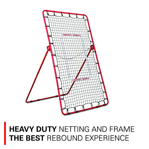 Rukket Pitch Back Baseball/Softball Rebounder   Pitching and Throwing Practice Partner   Adjustable Angle Pitchback Trainer