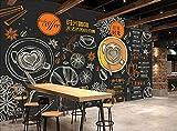 Mural pintado a mano café postre cartel cafetería tienda de postres heladería pizzería panadería restaurante foto papel pintado-250cmx175cm