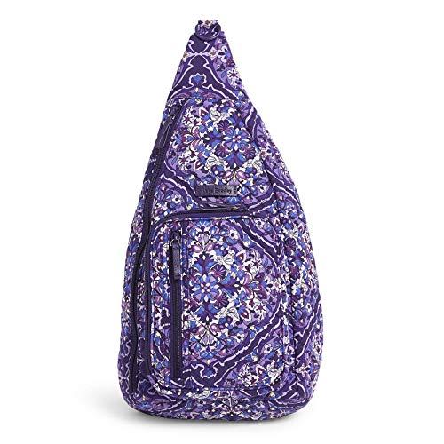 Vera Bradley Women's Signature Cotton Sling Backpack, Regal Rosette, Medium