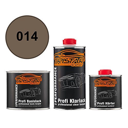 TRISTARcolor Autolack Set Dose spritzfertig für Alpine/Renault/Renault RVI 014 Cognac Metallic Basislack + 2K Klarlack 1,25L