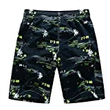 Astemdhj Pantalones Cortos Pantalones Cortos De Impresión para Hombre Pantalones Cortos De Playa Informales De Verano para Hombre M-5Xl 5XL 1526Yellow