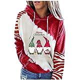Berimaterry sudaderas con estampado de Christmas mujer top casual ropa de Navidad chándal otoño moda blusa para mujer moda sudaderas mujer con capucha Jerséis originales jersey baratos holgado