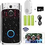 Video Doorbell Camera (2020 Upgraded) with Chime (All in One), Wi-Fi Door Bell