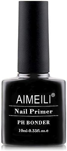 AIMEILI Nail Prep Bond Primer, UV LED Gel Foundation for Acrylic Powder and Builder Gel