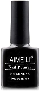 AIMEILI Nail Prep Bond Primer, UV LED Gel Foundation for Acrylic Powder and Builder Gel