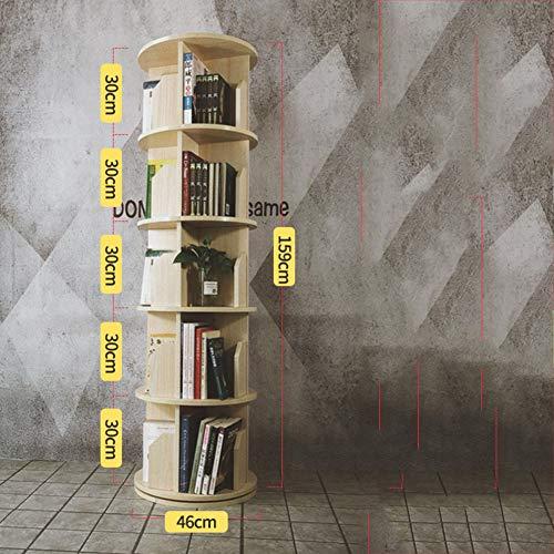 ssok shelf 360° Drehbares Regal, Ecke bücherregal Display-ständer Schmale Landung-Rack Lagerung-Buch-kabinett Veranstalter Für zuhause Office-Kirsche 46x159cm(18x63inch)
