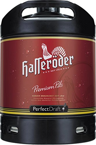 2 x Hasseröder Perfect Draft Premium Pils 6 Liter Fass 4,9 % vol. inc. 10.00€ MEHRWEG Pfand
