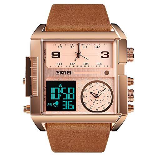 xiaoxioaguo Reloj digital para hombre de negocios de lujo cronógrafo luminoso, pulsera electrónica para hombre reloj 3 cronógrafo reloj