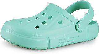 CAGAYA Zapatillas de estar por casa para hombre, zuecos, para la playa, para el jardín, transpirables, informales, antides...