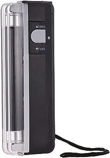 جهاز كاشف النقود صغير محمول 2 في 1 جهاز كشف النقود المزورة وفحص العملات الورقية مع مصباح كشاف الأشعة فوق البنفسجية لدولار أمريكي EURO POUND