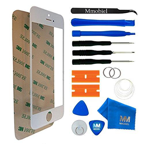 MMOBIEL Front Glas Reparatur Set kompatibel mit iPhone 5 5C 5S SE Series (Weiß) Display mit Werkzeug-Set