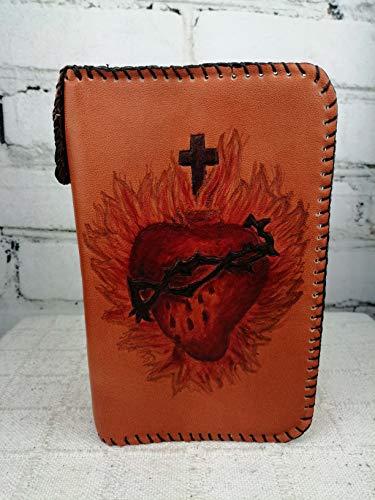 Funda Piel Diurnal Grabado Sagrado Corazón: Amazon.es: Handmade