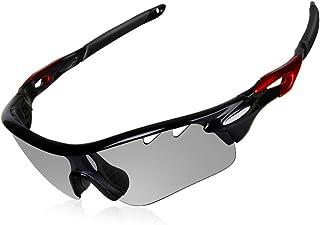 WATERFLY(ウォーターフライ) 偏光サングラス 変色調光サングラス UV400 紫外線カット 超軽量 運転 登山 自転車 釣り 野球 ランニング ゴルフ スポーツサングラス 男女兼用