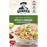 Quaker Instant Oatmeal, Apples & Cinnamon, Breakfast Cereal, 10 Packets