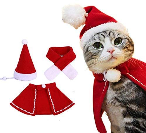Vêtements de Noël pour Animaux de Compagnie Châle de Noël pour Chat et Chien Cape de noël pour...