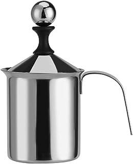 Zerodis 400 ml/800 ml dubbelnät manuell mjölkgrodd rostfritt stål skumtillverkare för Lattes Cappuccinos Macchiato varm ch...