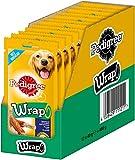 Pedigree Wrap – Palitos para Masticar para Perros – Cubierto con Pollo – para recompensa Durante el Entrenamiento o Simplemente Entre Tiempo – 12 x 40 g