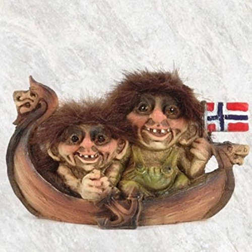 Nyform Trolls in Viking Ship Figure