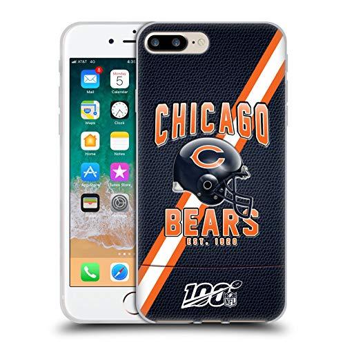 Head Case Designs Offizielle NFL Football Streifen 100ste 2019/20 Chicago Bears Soft Gel Handyhülle Hülle Huelle kompatibel mit Apple iPhone 7 Plus/iPhone 8 Plus