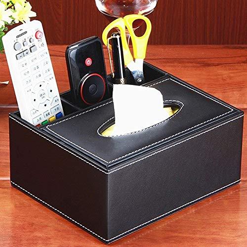 No-branded HMSCC PU Cuero multifunción de Tejido Cubierta de la Caja de la Pluma del lápiz de Control Remoto Caja de Almacenamiento Organizador de Escritorio Tabla Escritorio de Oficina