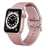 AOZZ Compatibile per Apple Watch Cinturino 42mm 38mm 44mm 40mm, Cinturino Sportivo in Silicone per iWatch Series 6,Series 5,Series 4,Series 3,Series 2,Series 1,SE